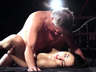 My step sister looks for daddy love sex with old man