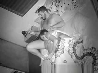 Hidden camera at home, married couple