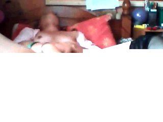 Single mom masturbating in bed son