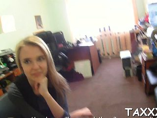 Agent asks a teen to take off raiment and bonks her twat