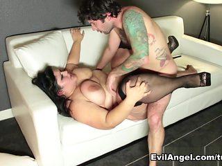 Horny pornstars Karla Lane, Tommy Pistol in Crazy Brunette, BBW sex movie