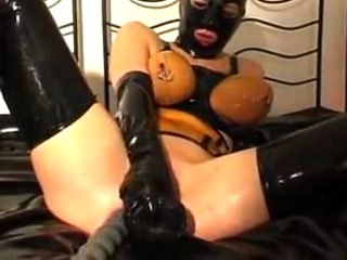 Rubber whore - pissing and fucking - part 5-6