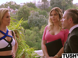Tushy Blair Williams Has A Hot Anal Lesson Threesome With Her Boss
