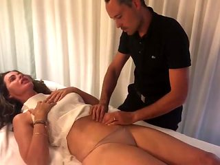 Trinny Woodall turned on by super hot massage