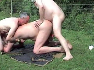 Outdoor group fuck and suck