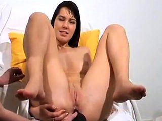 Ass eat and milk enema amateur