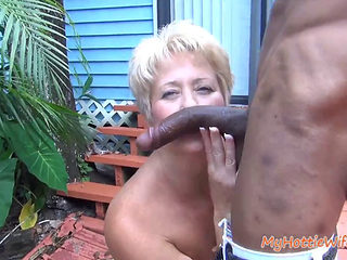Hot Gilf Sucks And Fucks Peeper's Bbc
