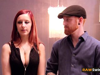 Redhead husband releases tension by seducing wife
