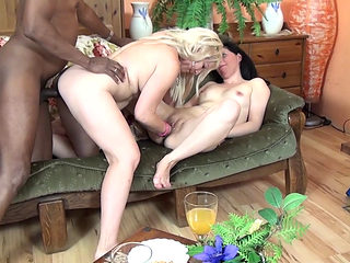 Granny And Teen Fucked By A Black Man