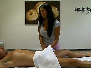 You always know your massage is going well when the first thing the gal does is stick her hand un...