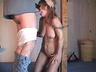 slave cum eating