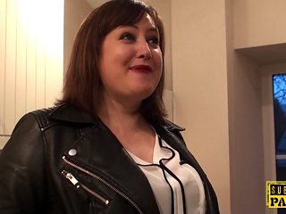 Chubby British Sub Cockrides Maledom Analy