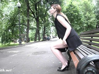 public flasher shares great upskirt views on the streets