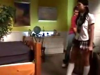 Schoolgirl pays the rent with her ass