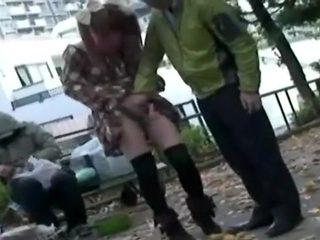 Incredible Japanese chick in Fabulous Outdoor, Masturbation JAV video