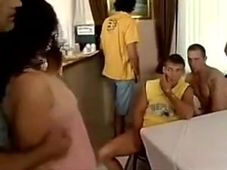 Daddy  friends gangbang his pregnant daughter
