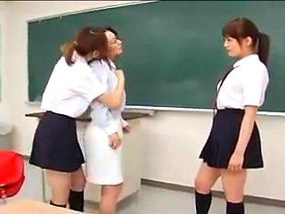 JPN Joshi Kousei Lesbians to Sensei at School