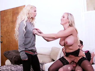 Milf fucks him with strap on Halloween Special With A Threes