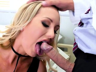 Seductress Brett Rossi Blows Her Hung Doctor