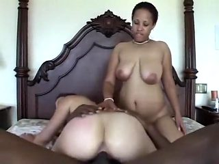 Zolla and Jamaica hook up on the bed and have fun with a big black cock
