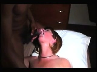 Redhead blowjob black monster cock facial cumshot