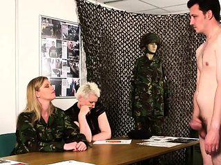 Military Officers Make Him Get Naked