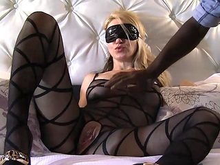 Blond Mother I'd Like To Fuck in hose taking dark fearsome-threatening HD Porn