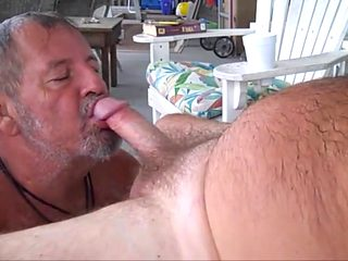 Daddy bear sucks cock 4