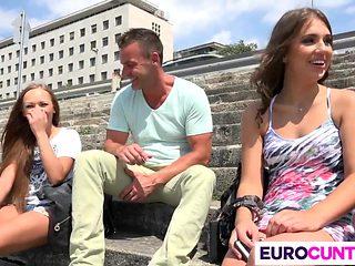 Sexy euro sluts get drilled