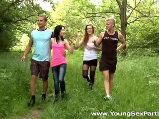 Young Sex Parties - Alexis Crystal - Lolly Pop - Taking a teen sex party outdoors