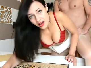 German Female boss gives him a raise after he fucks her