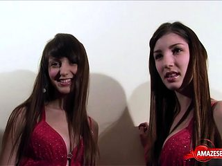 Natural tits sister bukkake with tits cumshot