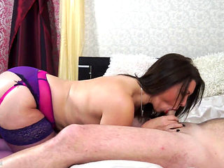 British Milf Christine O Sucking And Fucking In Lingerie