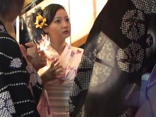 Korean girl gang fucked in Japan