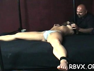 Older milf gets bondage treatment with one more girl