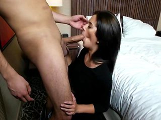 Brunette college girl fucked in the bed