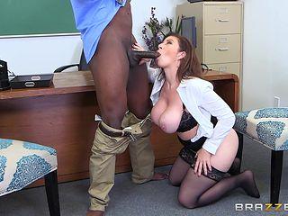 hot milf gets fucked by a black teacher