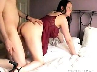 Mature lady with beautiful pussy lips receives a load
