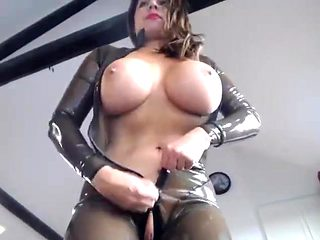 transparent latex catsuit_2 dildo and vibratir fuck