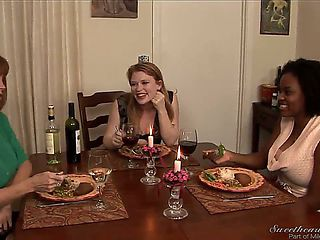 Madison Young is having dinner with Alia Starr and Darla Crane, and they exchange embarrassing st...
