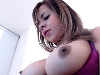 Columbian Big Tit Flash On Camera