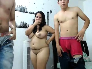 bbw latin milf plays with 2 boys on cam ptwo