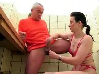 Crazy homemade Handjobs sex scene