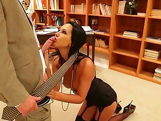 Hot day in the big office. Sexy secretary Laly is doing some dirty work for her new boss perferte...