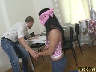 Cheating gf tricked by her boyfriend