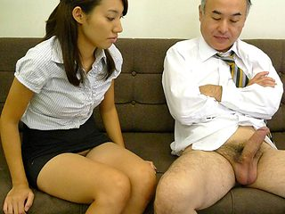 Anna Takizawa in Anna Takizawa is getting to know her older colleague from work - AviDolz