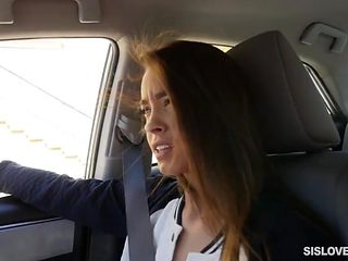 Stepsister gives you good head in the car