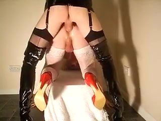 Amazing amateur shemale scene with Latex, Guy Fucks scenes