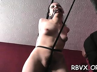 Thraldom loving beauteous bitch gets belted