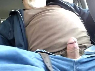 Dad cumming in the bus